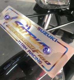 Bảng tên xe Titan cao cấp cho Satria