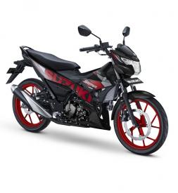 Satria F150 màu Đen mâm Đỏ 2020