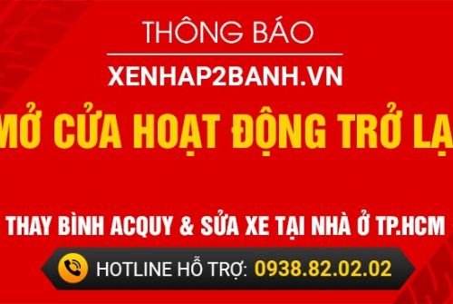 Xenhap2banh.vn - Mở cửa hoạt động trở lại các chi nhánh tại TP.HCM